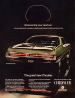 1969 Chrysler 300 Coupe Advertisement explaining the Fuselage Styling