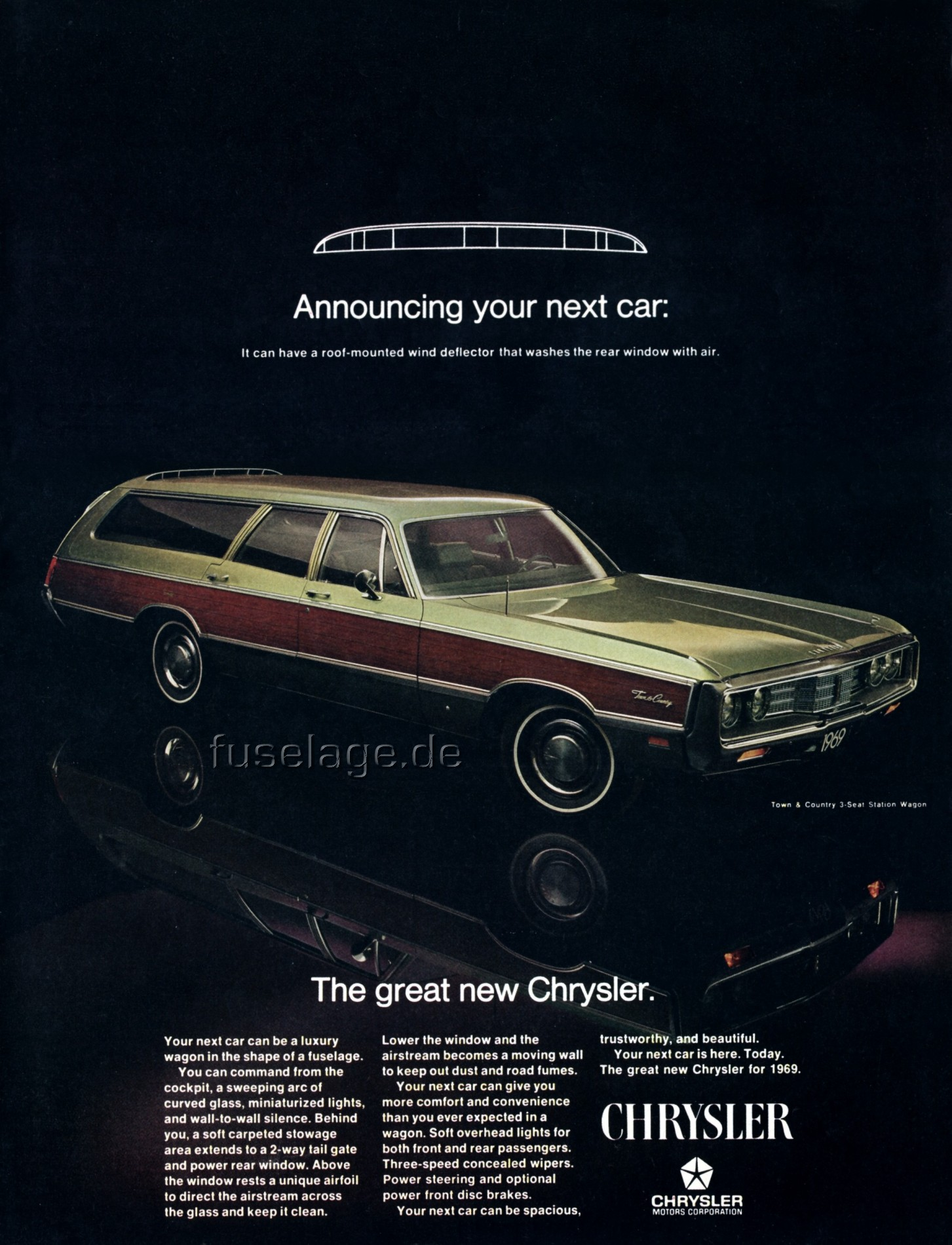 Town And Country Ad >> Mopar Fuselage Styled Full Size Cars