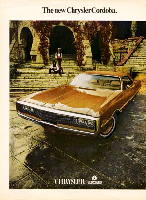 1970 Chrysler Newport Cordoba Magazine Ad, left side