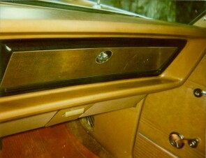 1970 Chrysler Newport Cordoba Glovebox lid trim panel.
