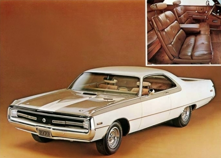 1970 Chrysler 300 Hurst and Interior press photo