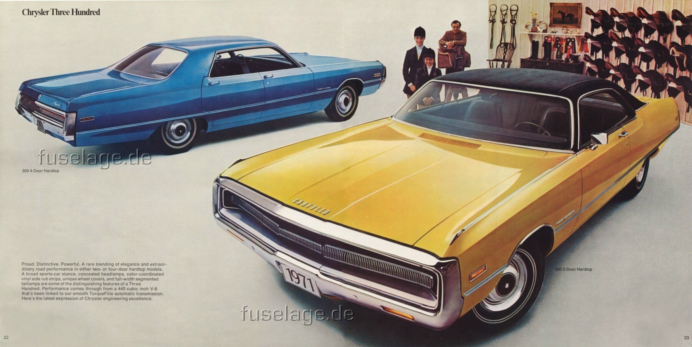 1971 Chrysler 300 4-door and