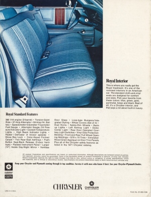 Q: What is the difference to the Newport interior? A: There are no metal emblems in the seatbacks and the door panels feature a wood appliqué!