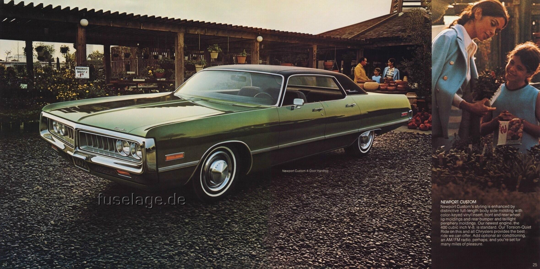 Parked Cars Revisited 1966 Chrysler Newport 4 Door: 1972 Chrysler