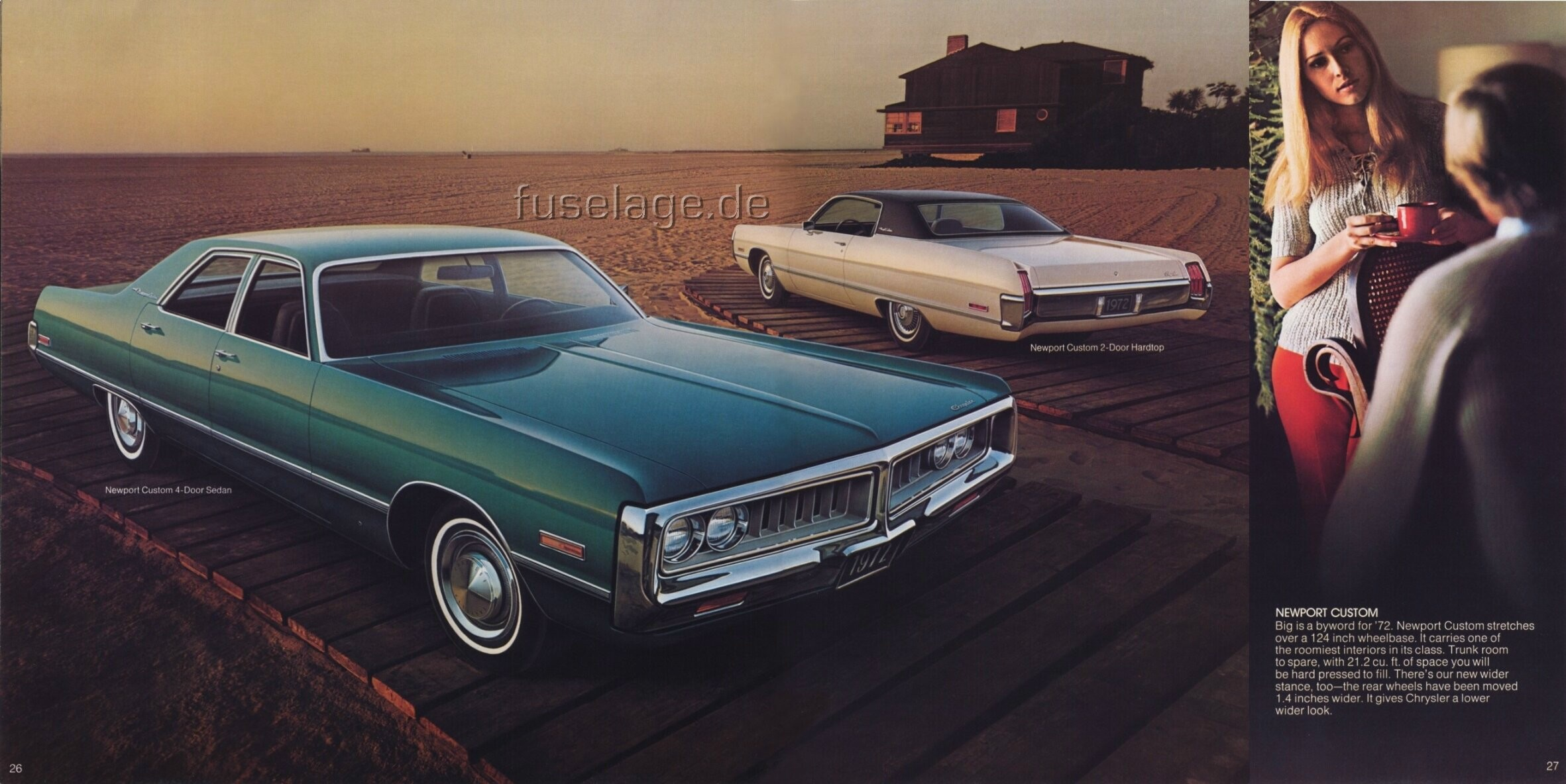 Mopar fuselage styled full size cars 1972 chrysler newport custom 4 door hardtop 1972 freerunsca Image collections