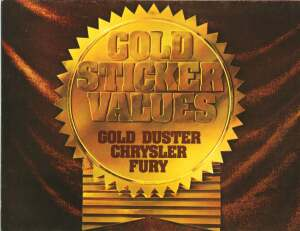 Cover of the 1973 Gold Sticker value special model folder