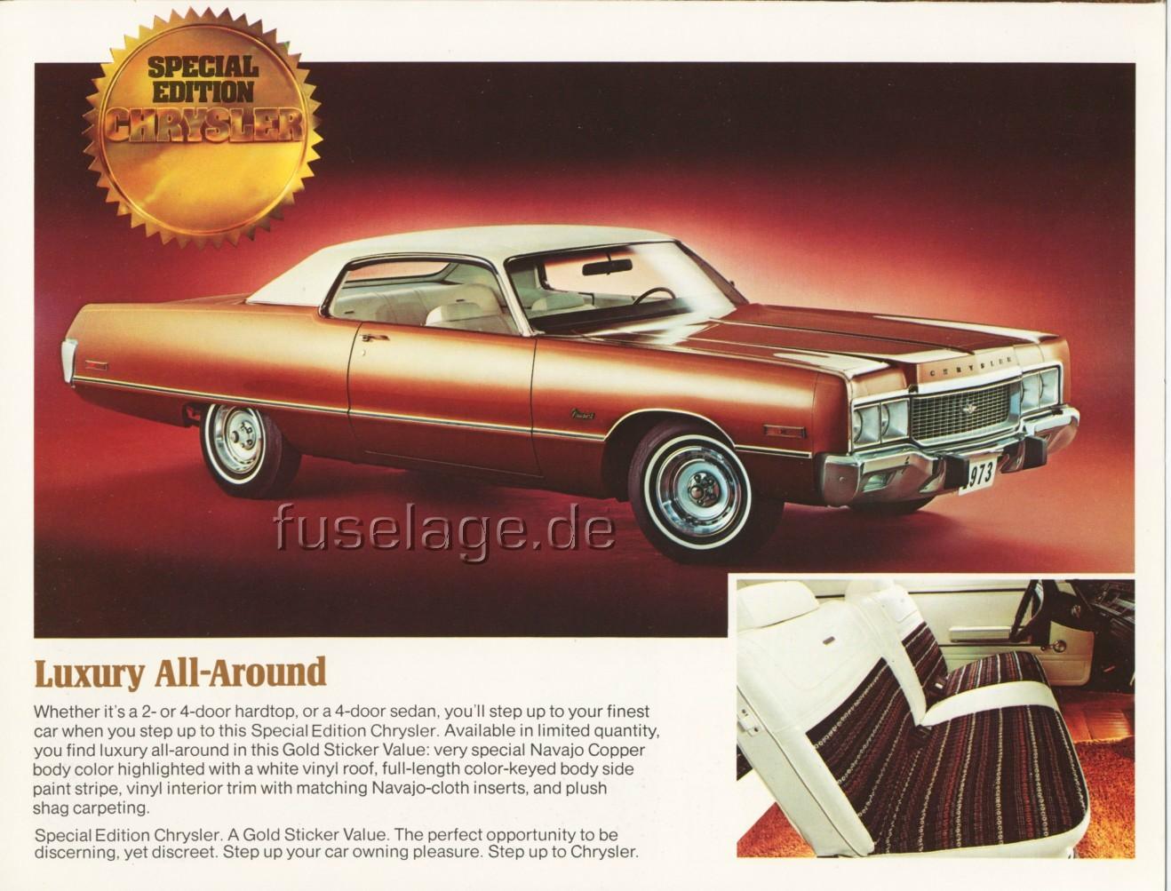 1973 Chrysler Gold Sticker Special