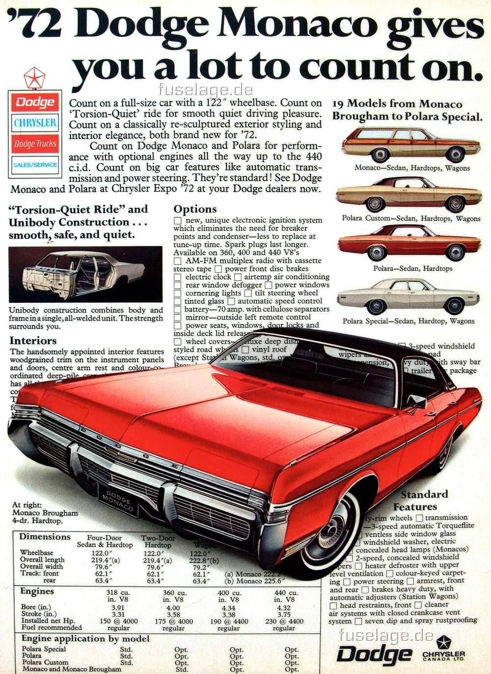 for the 1972 Dodge Monaco,
