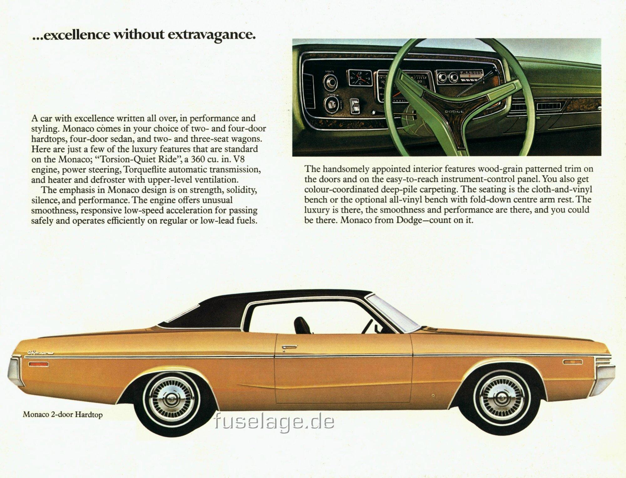 1972 Dodge Polara & Monaco Catalog
