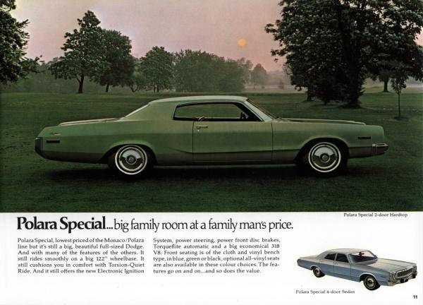 1973 Dodge Polara Special two-door hardtop
