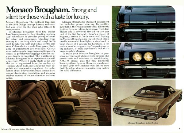 1973 Dodge Monaco Brougham features