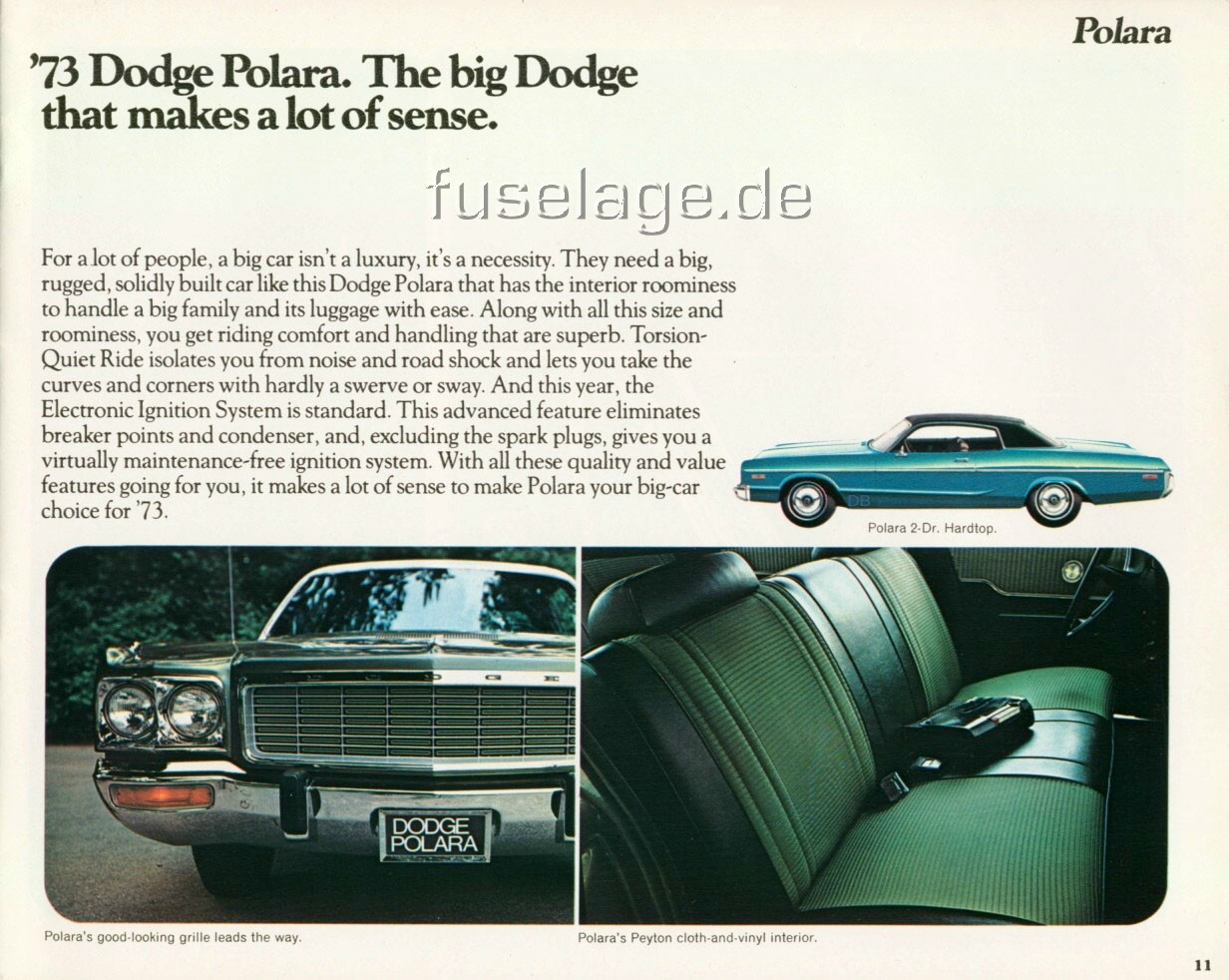 1973 Dodge Polara and Monaco Catalog