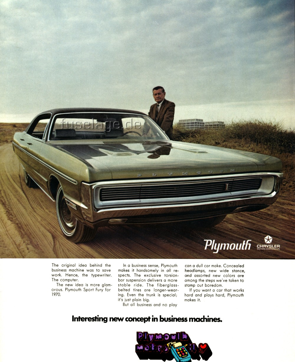 Another Magazine Ad For The 1970 Plymouth Sport ...