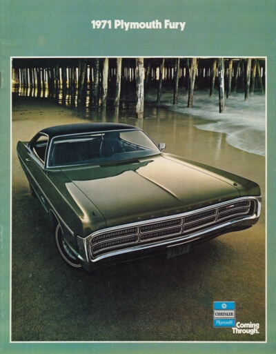 1971 Plymouth Fury sales catalog showing Sport Fury two-door hardtop