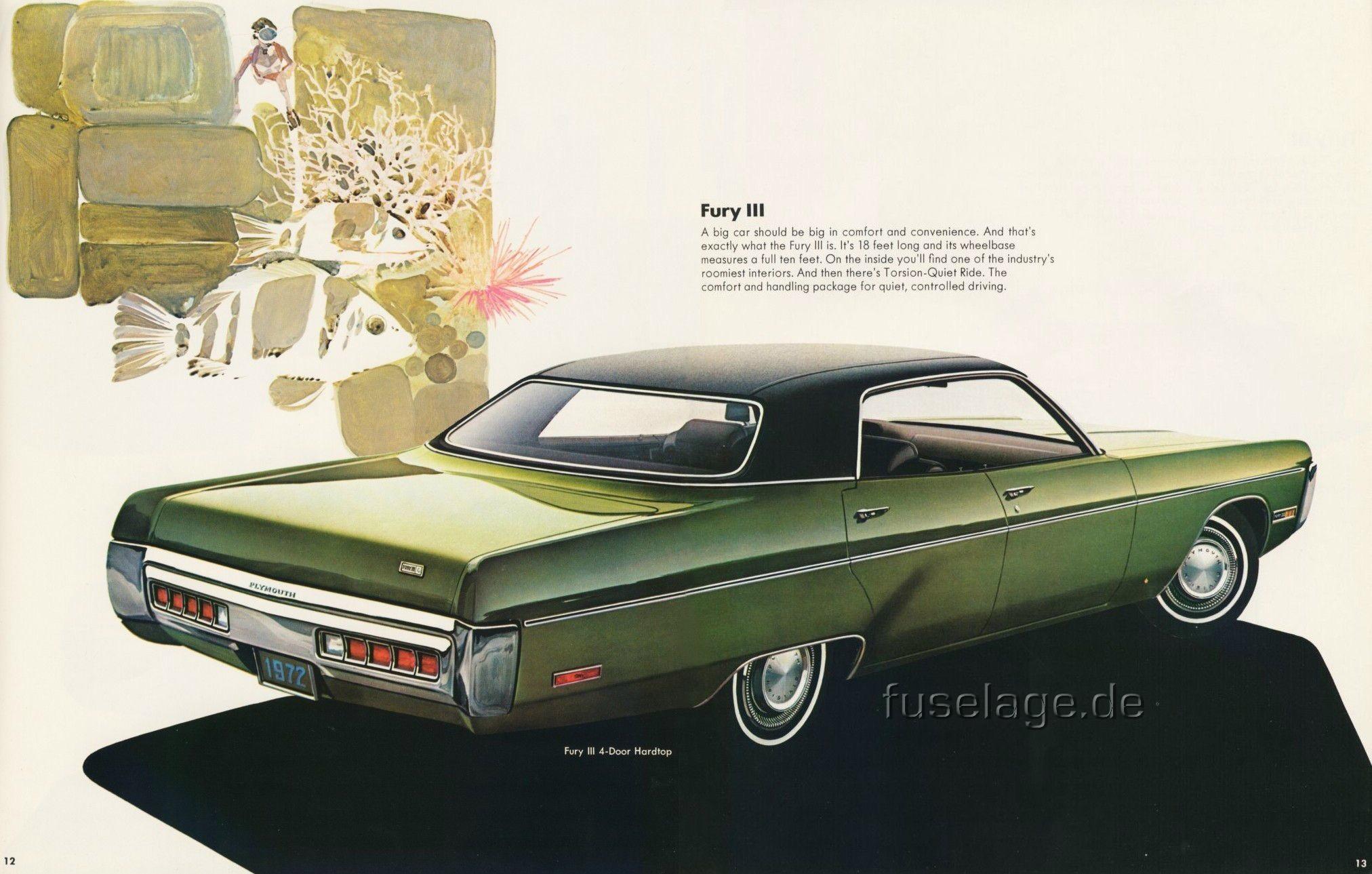1972 Fury III 4-door hardtop