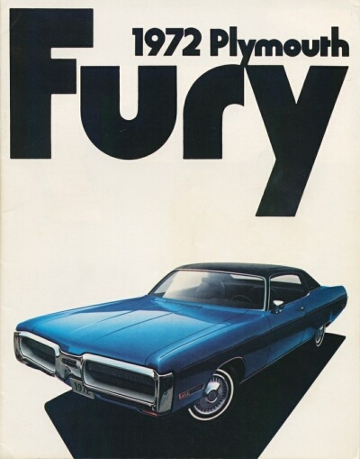 1972 Plymouth Fury sales catalog cover