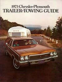 1973 Chrysler and Plymouth trailer towing guide cover